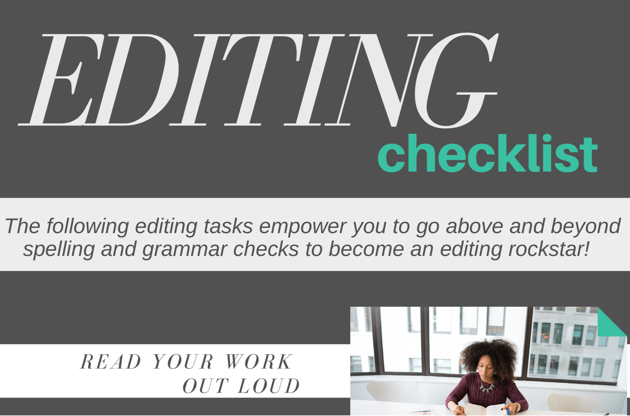 quick editing checklist
