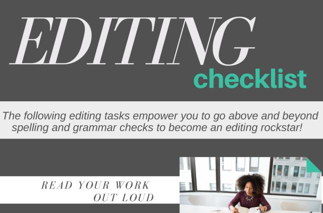 quick editing checklist